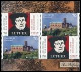 FRG MiNo. 3300,3310 se-tenant printing ** Luther: Reformation & Wartburg, MNH