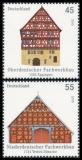 FRG MiNo. 2823-2824 set ** Half-timbered buildings in Germany (I), MNH