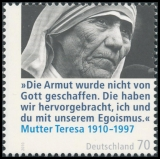 FRG MiNo. 2813 ** 100th anniversary of Mother Teresa, MNH
