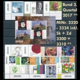 FRG MiNo. 3320-3334 + se-tenant 3300+3310 ** New issues 3rd Quarter 17,self-adh.