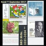FRG MiNo. 3331-3334 ** New issues Germany september 2017, MNH