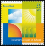 FRG MiNo. 2378 ** Environmental protection: Renewable energies on the up, MNH