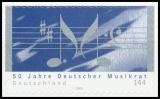 FRG MiNo. 2380 ** 50 years of the German Music Council, MNH, self-adh., from set