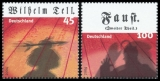 FRG MiNo. 2391-2392 Set (from block 65) ** Classical theater, MNH