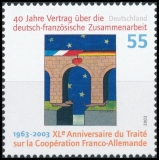 FRG MiNo. 2311 ** 40-year contract on Franco-German cooperation, MNH