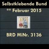 FRG MiNo. 3136 ** All self adhesives February 2015, MNH, from set