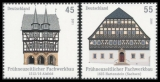 FRG MiNo. 2861-2862 set ** Half-timbered buildings in Germany (II), MNH