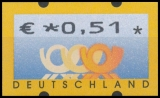 FRG MiNr. ATM 4 , Cent value selection ** Frama labels: Post emblems, MNH