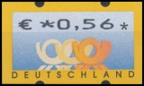 FRG MiNr. ATM 4 , Cent value selection ** Frama labels: Post emblems, MNH