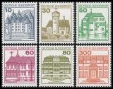 FRG MiNo. 913AII-1143AII set ** Castles, letterset, MNH