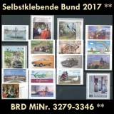 FRG MiNo. 3279-3346 ** Self-adhesives Germany year 2017, MNH