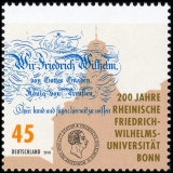 FRG MiNo. 3360 ** 200 years Friedr. Wilh. University of Bonn, MNH