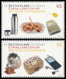 FRG MiNo. 2891-2892 set ** At home in Germany: ingenuity German inventions, MNH