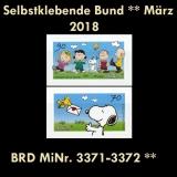 FRG MiNo. 3371-3372 ** Self-adhesives Germany march 2018, MNH