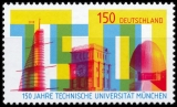 FRG MiNo. 3374 ** 150 years Technical University of Munich, MNH