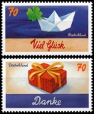 FRG MiNo. 3386-3387 Set ** Series writing events: Thank you & good luck, MNH
