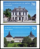 FRG MiNo. 3388-3389 Set ** Friedenstein & Falkenlust, self-adhesive, MNH
