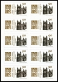 FRG MiNo. FB 78 (3398) ** 1000 y. consecration cathedral Worms, foil sheet, MNH