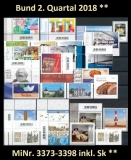 FRG MiNo. 3373-3398 ** New issues Q2 2018, MNH, incl. self-adhesives
