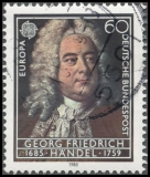 BRD MiNr. 1248 o Europa: Europäisches Jahr der Musik - G. F. Händel, gestempelt