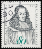 FRG MiNo. 1235 O 350th Birthday of Philipp Jakob Spener, postmarked