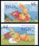 FRG MiNo. 3140-3141 set ** Felix the Hare, MNH