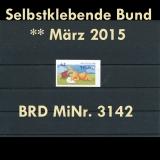 FRG MiNo. 3142 ** All self adhesives March 2015, MNH