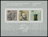 FRG MiNo. Block 19 (1215-1217) ** World Postal Congress (UPU), sheetlet, MNH
