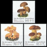 FRG MiNo. 3407-3409 set ** Youth 2018 series: mushrooms, MNH