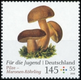 FRG MiNo. 3407-3409 set ** Youth 2018 series: mushrooms, MNH