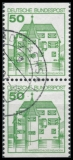 FRG MiNo. 1038C I-1038D I se-tenant O Strongholds and Castles, postmarked