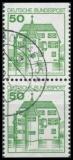 BRD MiNr. 1038C I-1038D I O Zusammendruck Burgen + Schlösser (IV), gestempelt