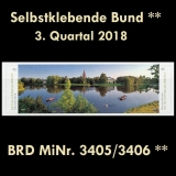 FRG MiNo. 3405/3406 ** Self-adhesives Germany Q3 2018, MNH
