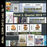 FRG MiNo. 3399-3413 ** New issues Q3 2018, MNH, incl. self-adhesives