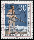 FRG MiNo. 1314 O 75th anniversary of the death of Karl May, postmarked