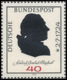 FRG MiNo. 809 ** 250th anniversary of Friedrich Gottlieb Klopstock, MNH