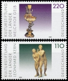 FRG MiNo. 2107-2108 set ** Cultural Foundation of the countries: Artworks, MNH