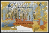 FRG MiNo. Block 52 (2105) ** German National and Nature parks, sheetlet, MNH
