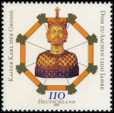 FRG MiNo. 2088 ** 1200 years Aachen Cathedral, MNH