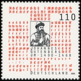 FRG MiNo. 2098 ** 600th birthday of Johannes Gutenberg, MNH
