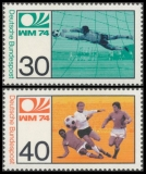 FRG MiNo. 811-812 set ** FIFA World Cup Germany, MNH