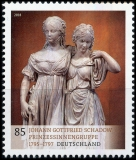 FRG MiNo. 3416 ** Treasures German Museums: Schadow - Prinzessinnengruppe, MNH