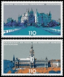 FRG MiNo. 2036-2037 set ** Land parliaments in Germany (III), MNH