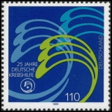 FRG MiNo. 2044 ** 25 years German Cancer Aid, MNH