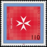 FRG MiNo. 2047 ** 900 years of the Order of St. John and the Order of Malta, MNH
