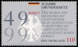 FRG MiNo. 2050 (from block 48) ** 50 years of the German Basic Law, MNH