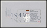 FRG MiNo. Block 48 (2050) ** 50 years of the German Basic Law, sheetlet, MNH