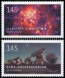 FRG MiNo. 3425-3426 set ** series Astrophysics: Alma & Illustris, MNH