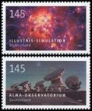 BRD MiNr. 3425-3426 Satz ** Serie Astrophysik: Alma & Illustris, postfrisch