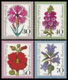 FRG MiNo. 818-821 set ** Welfare 1974: Flowers, MNH